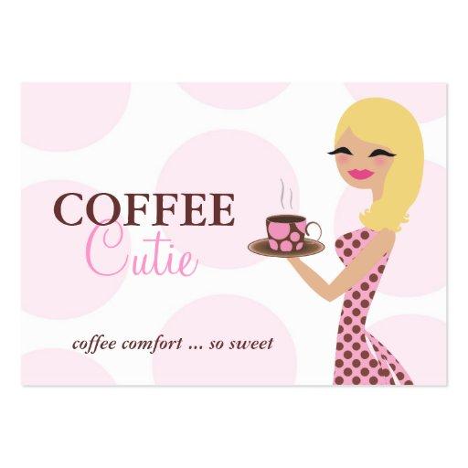 311 Coffee Cutie Blonde Wavy Business Card