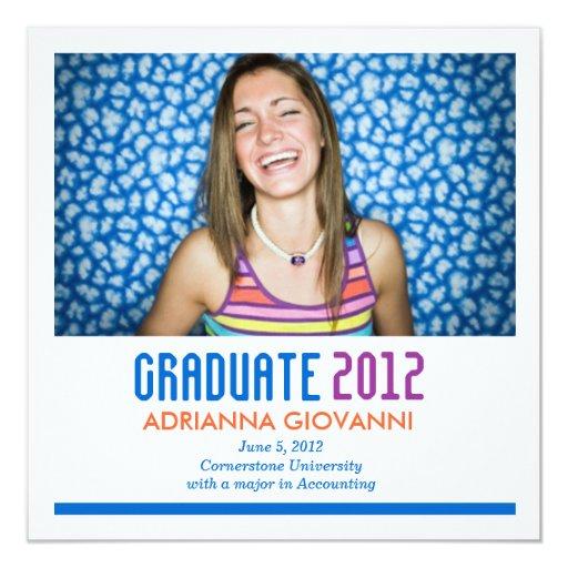 311 Colorful Graduation Announcement