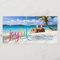 311 Colorful Joyful Christmas Card