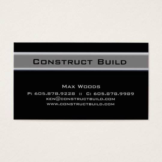 311 Construction Contractor Metal Business Card 10