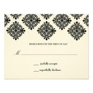 311 Contessa Cream & Black Reply Card