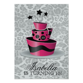 311 Couture Gâteaux Birthday Invitation