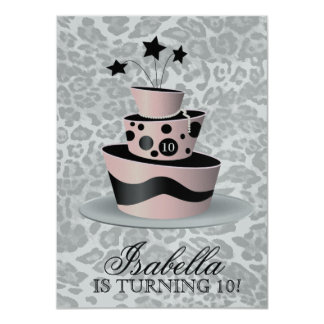 311 Couture Gâteaux Birthday Invitation Pink