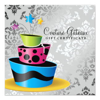 311 Couture Gâteaux Gift Certificate Multi 5.25x5.25 Square Paper Invitation Card