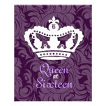 311-Crown Couture Queen of Sixteen Personalized Flyer