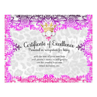 311 Crowning Certificate in Multi Colored Lace Letterhead