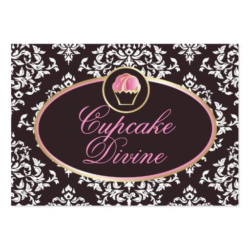 311-Cupcake adivinan el damasco sólido Tarjetas De Visita Grandes