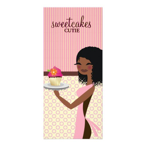 311 Cupcake Cutie African American Pink Rack Card