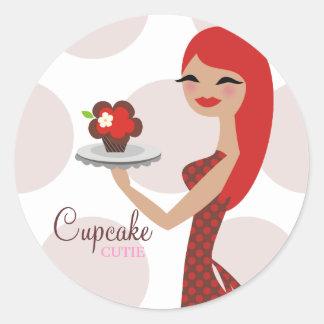311 Cupcake Cutie Bakery Classic Round Sticker