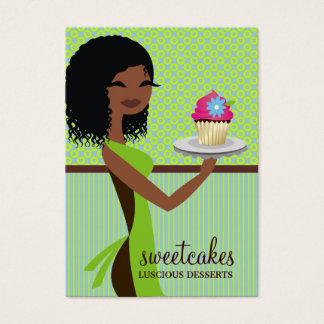 311 Cupcake Cutie Blue Green Business Card