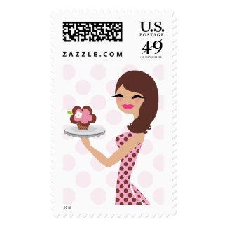 311 Cupcake Cutie Brunette Stamp