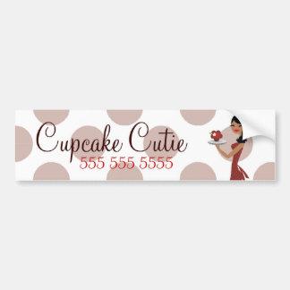 311 Cupcake Cutie Ethnic Red Bumper Sticker