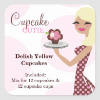 311 Cupcake Cutie Light Blond Labael Stickers