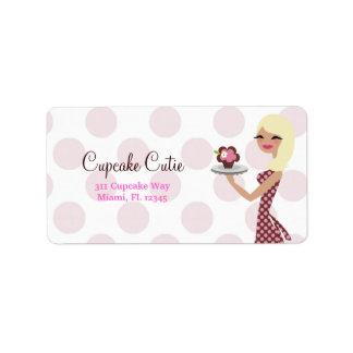 311-Cupcake Cutie - Light Wavy Blond Personalized Address Labels