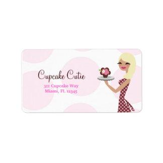 311-Cupcake Cutie - rubio ondulado ligero Etiquetas De Dirección