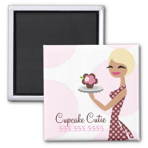 311 Cupcake Cutie Short Blond Fridge Magnet