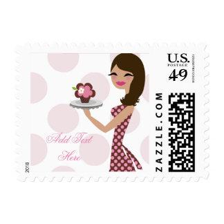 311 Cupcake Cutie Wavy Brunette Postage