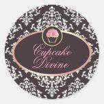 311 Cupcake Divine Solid Damask Sticker