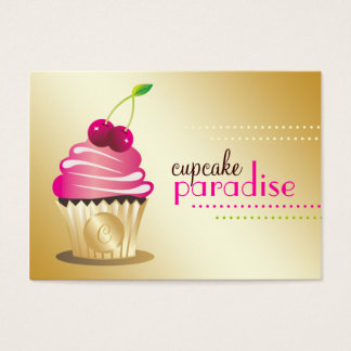 311 Cupcake Paradise Monogram Business Card