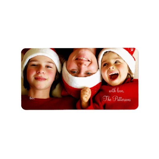311 Customizable Christmas Photo Gift Tags