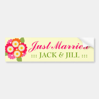 311-CUSTOMIZABLE JUST MARRIED BUMPER STICKER