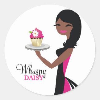 311 Daisy Cupcake Cutie African American Classic Round Sticker