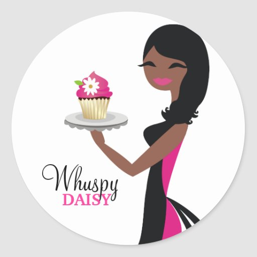 311 Daisy Cupcake Cutie African American Stickers