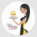 311 Daisy Cupcake Cutie Straight Black Stickers