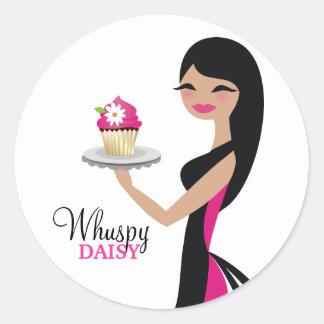311-Daisy Cupcake Cutie Straight Brunette Sticker