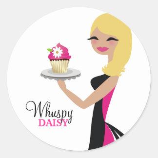 311 Daisy Cupcake Cutie | Wavy Blonde Classic Round Sticker