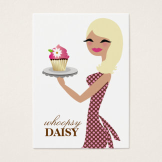 311 Daisy the Cupcake Cutie Blonde Dots Large Business Card