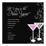 311-Damask Glass | New Years Eve Custom Invites