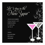 311 Damask Glass | New Years Eve Custom Invitations