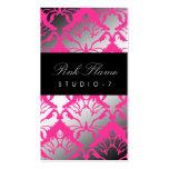 311 Damask Shimmer Pink Flame Business Cards