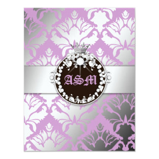 311-Damask Shimmer Queen Reception Card