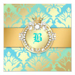 311-Damask Shimmer Queen Sweet 16 Turquiose Lime Card