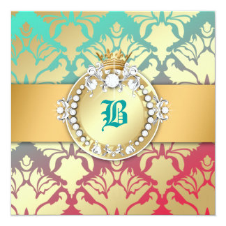 311-Damask Shimmer Queen Turquoise Dream 16 Card
