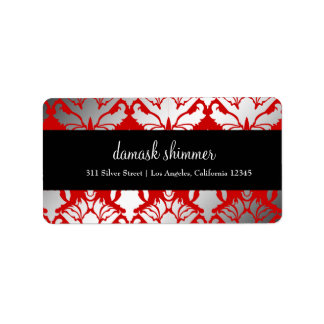 311-Damask Shimmer Red Label