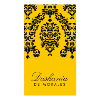 311-Dashing Damask | Bee Double-Sided Standard Business Cards (Pack Of 100)