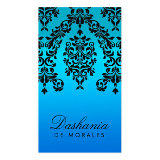 311 Dashing Damask Blue Tropical Fade Business Card Templates