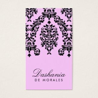 311-Dashing Damask | Cotton Candy Business Card