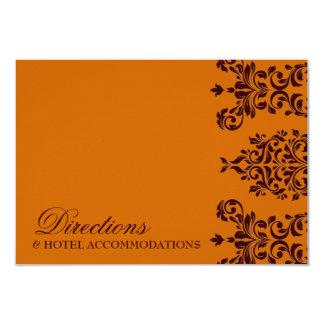 311 Dashing Damask | Fresh Orange RSVP 3.5x5 Paper Invitation Card
