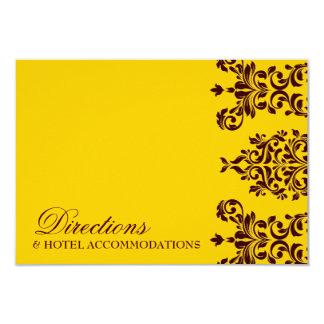 311 Dashing Damask | Fresh Orange Yellow RSVP 3.5x5 Paper Invitation Card