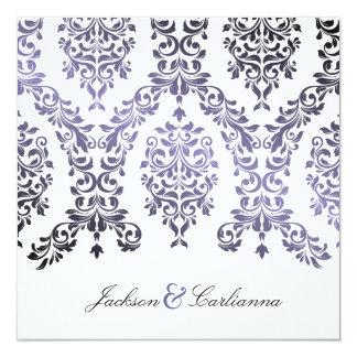 311-Dashing Damask Hydrangea Purple Invitation