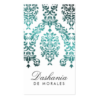 311-Dashing Damask   Sea Garden Business Card Template