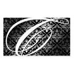 311-Dazzle yo damasco - negro del monograma de C Tarjeta De Visita