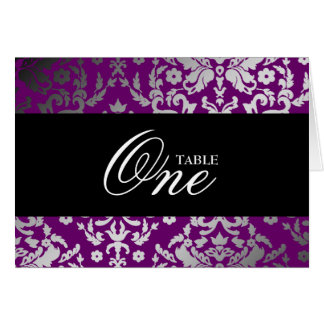 311-Dazzling Damask Extraordinary Purple Table car Card