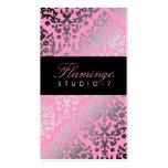 311 Dazzling Damask Flamingo Business Cards