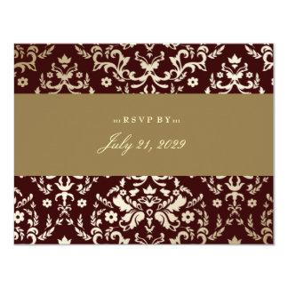 311 Dazzling Damask Gold Ivory Chocolate Card