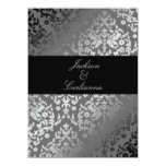 311-Dazzling Damask Gray Storm Invite 5.5x7.5